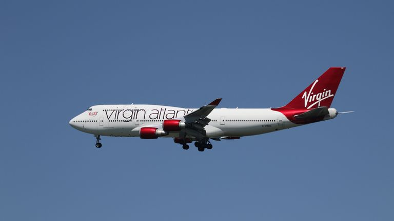 A Virgin Atlantic Boeing 747-400, with Tail Number G-VROC, lands at San Francisco International Airport, San Francisco A Virgin Atlantic Boeing 747-400, with Tail Number G-VROC, lands at San Francisco International Airport, San Francisco, California, April 16, 2015. REUTERS/Louis Nastro