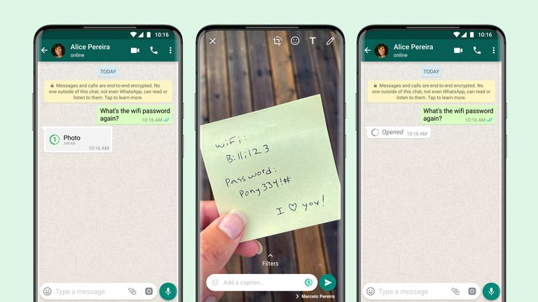 WhatsApp is releasing a new 'View Once' feature for videos and still images