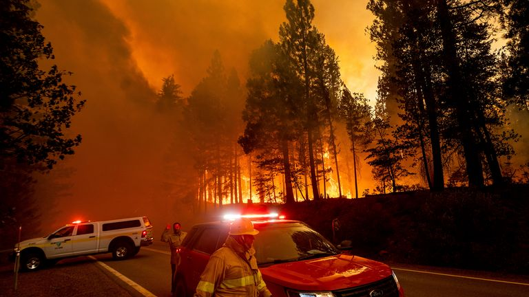 Firefighters have been tackling the blaze for three weeks. Pic AP