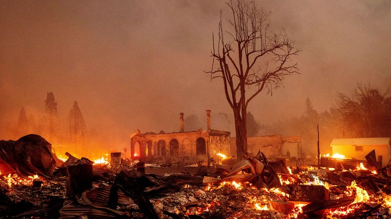 The Dixie Fire is the eighth largest in California's history. Pic AP