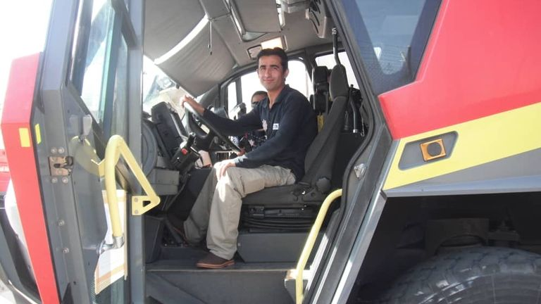 Mr Omer hopes to become a firefighter in London