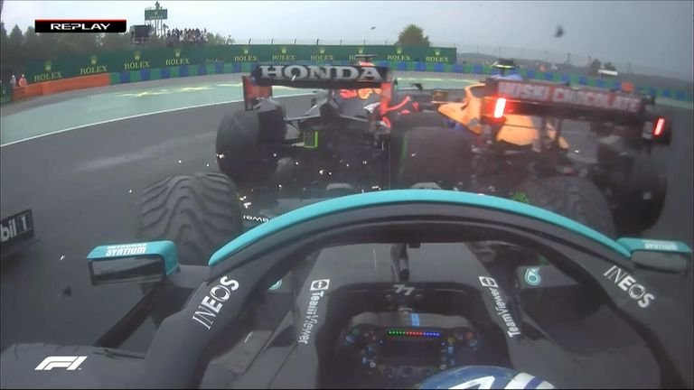 Here is a closer look at the carnage race start from the Hungaroring resulting in five early retirements.