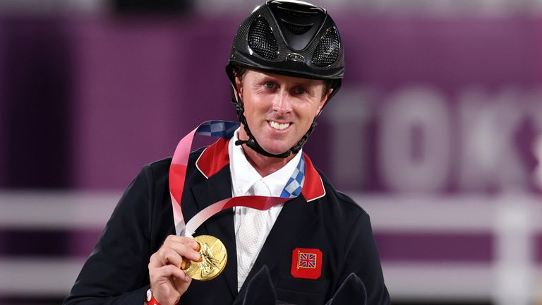 Ben Maher held his nerve to claim gold in the individual showjumping