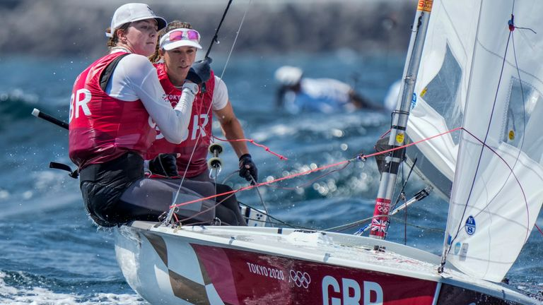 Hannah Mills and Eilidh McIntyre claim another gold for Team GB in sailing