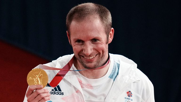Jason Kenny became the first Briton to win seven Olympic gold medals as he took a stunning victory in the men's keirin final