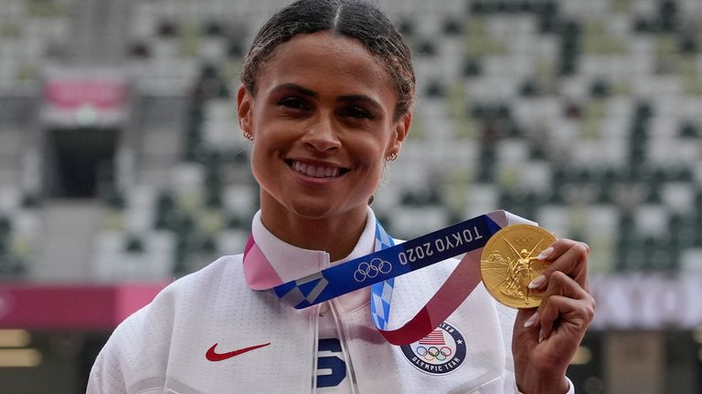 Sydney McLaughlin clinches gold in the women's 400m hurdles