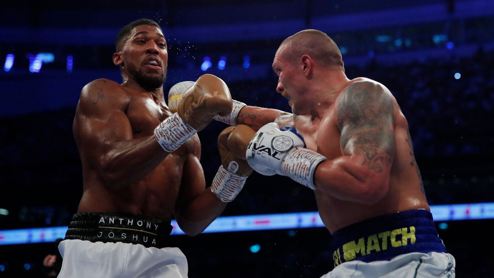 Oleksandr Usyk beats Anthony Joshua to take heavyweight titles