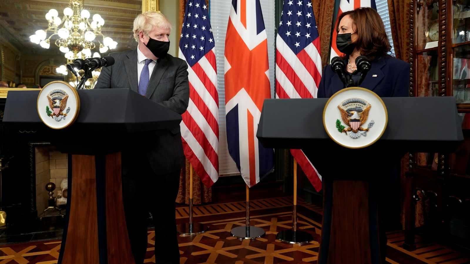 Boris Johnson hails 'real progress' in US-UK trade during White House talks - despite failing to commit to deal by 2024