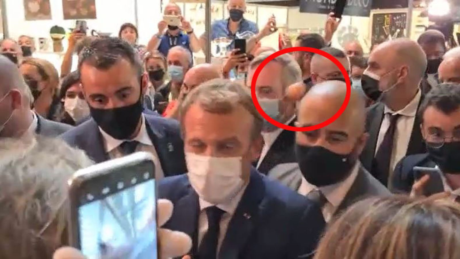 Emmanuel Macron: French president hit with egg at trade fair which was  promoting country's food   World News   Sky News