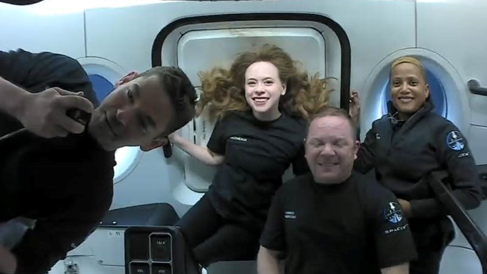SpaceX Inspiration4 mission: Crew appear in live video featuring weightless flips and ukulele performance