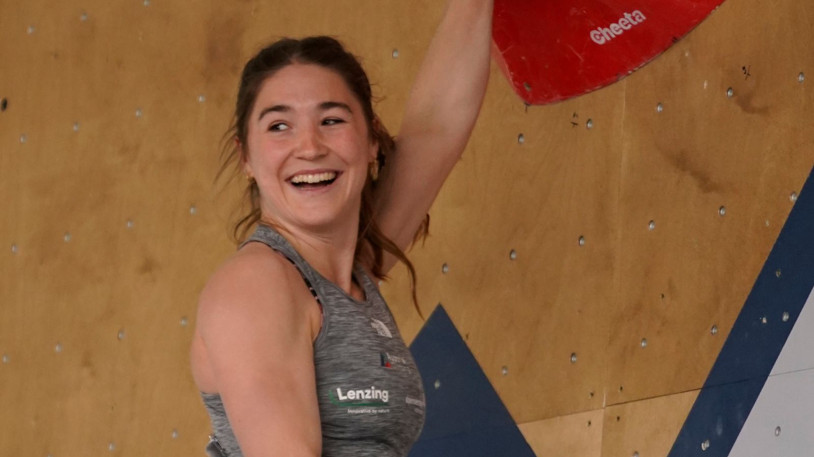 Organisers apologise to climber after broadcaster's close-up replay of athlete's bottom