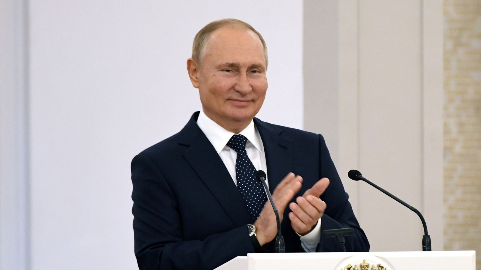 Putin's party expected to secure emphatic win as polls close in Russia