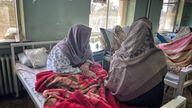 Women's ward of a hospital in Afghanistan