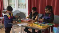 Children of Afghan refugees resettling in the UK