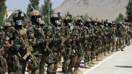 Afghan special forces graduating in July 2021. Pic: AP