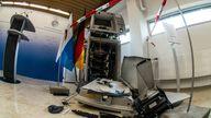 An ATM machine was blown up in Germany in December 2020. Pic: Sachelle Babbar/ZUMA Wire/Shutterstock