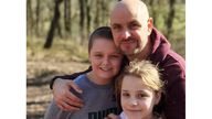 Jason Bennett and his children John and Lacey. John and Lacey were among four people found dead at a house on Chandos Crescent, Killamarsh