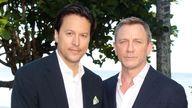 Cary Fukunaga with Daniel Craig at Ian Fleming's house in Jamaica