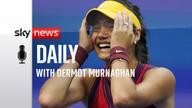 British tennis star Emma Raducanu who  won her first Grand Slam at the US Open. Pic: Associated Press.
