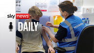 Kevin Mckeon, 14, receives his first dose of the Covid-19 vaccine from vaccinator Geraldine Flynn at the Citywest vaccination centre in Dublin. Picture date: Saturday August 14, 2021.