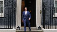 Dominic Raab leaves Downing Street following his demotion from foreign secretary to justice secretary