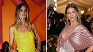 Doutzen Kroes (L) says she won't be forced into taking a COVID-19 vaccine. Pic: AP