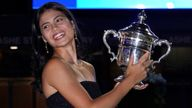 Raducanu has picked up £1.8m in prize money after winning the tournament. Pic: AP