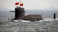 FILE IMAGE -Chinese Navy nuclear submarine takes part in an international fleet review to celebrate the 60th anniversary of the founding of the People's Liberation Army Navy in Qingdao - 23/04/2009