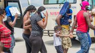 Haitian migrants flown out of Texas arrive in Port-au-Prince