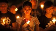 The Hong Kong group organised a vigil each year for those killed by the Chinese military in Tiananmen Square