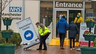 File image 11/1/21 Members of the public enter the Etihad Tennis Centre, Manchester, one of the seven mass vaccination centres now opened to the general public as the government continues to ramp up the vaccination programme against Covid-19.
