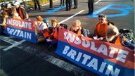 insulate Britain's twitter feed appeared to show images of a fresh protest. Pic: Insulate Britain
