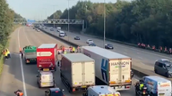 Protesters from Insulate Britain descended on the clockwise and anti-clockwise carriageway of the M25.