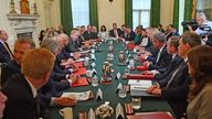 first Cabinet meeting since the reshuffle at 10 Downing Street, London. Picture date: Friday September 17, 2021.