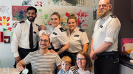 Emergency response officers who delivered a baby boy on the streets of Southwark have visited the family they helped in their time of need. Pic: Metropolitan Police
