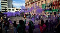 Women celebrate the decision in Saltillo