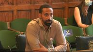 Rio Ferdinand speaks to MPs at a Joint Committee hearing