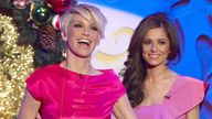 Girls Aloud, Sarah Harding and Cheryl Cole.The 'Paul O'Grady Show', TV, London, Britain  - 16 Dec 2008