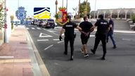 Over 100 people were arrested, the majority in the Spanish island of Tenerife