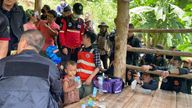 More than 300 volunteers helped look for Gina Pic: Red Hawk Rescue Team, Maena Municipality.