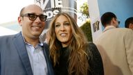 Sarah Jessica Parker poses with actor Willie Garson at the 2008 MTV Movie Awards