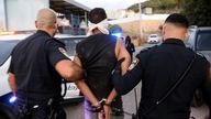 Israeli police arrest Zakaria Zubeidi following his escape from Gilboa prison