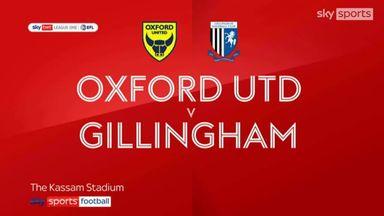 Oxford 1-1 Gillingham