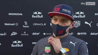 Verstappen on his engine change