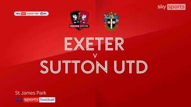 Exeter 2-0 Sutton