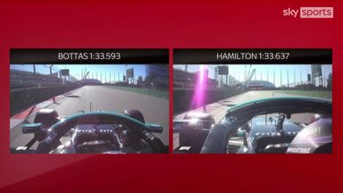 Bottas-Hamilton fastest laps compared