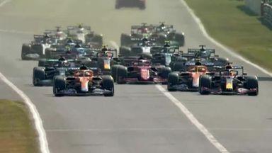 Ricciardo leads the race at Monza
