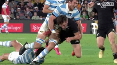 Barrett with the most sumptuous offload