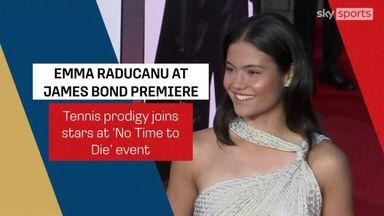 Raducanu at James Bond Premiere 'No Time to Die'