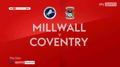 Millwall 1-1 Coventry